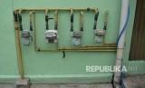 Meteran jaringan gas rumah tangga PGN terpasang. (Ilustrasi)