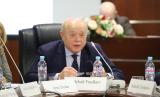 "Mikhail Fradkov, Perdana Menteri Rusia 2004-2007 sebagai pembicara kunci pada Seminar ""Menuju Kemitraan Strategis Indonesia-Rusia: Tantangan dan Peluang"" di MGIMO University, Selasa (18/2)."