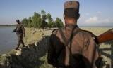 Militer Myanmar di negara bagian Rakhine yang merupakan wilayah Muslim Rohingya tinggal.