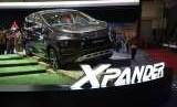Mitsubishi Xpander ketika dipamerkan pada ajang Gaikindo Indonesia International Auto Show, 2018
