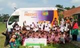 Mobil Prestasi Muamalat (MPM) mengunjungi sekolah-sekolah terdampak tsunami di Kabupaten Pandeglang, Banten.