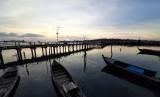 Objek wisata kampung pelangi, di Kampung Bugis, Tanjungpinang, Kepri.