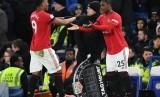 Odion Ighalo saat menggantikan Anthony Martial pada laga melawan Chelsea.