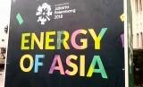 Ornamen Asian Games di Kota Tua, Jakarta