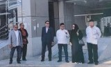 Panja Haji DPR mengusulkan biaya visa haji ditanggung pemerintah. Foto Panja Aji saat di Makkah.