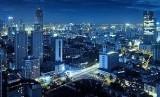 Panorama of downtown Tianjin