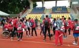 Para atlet atletik Indonesia di ASEAN Para Games 2017, Malaysia.