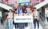 Para mahasiswa Prodi Fisioterapi Unisa Yogyakarta yang diberangkatkan ke Palu.