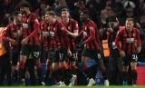 Para pemain Bournemouth merayakan gol.