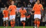 Para pemain timnas Belanda usai menjalani pertandingan internasional.
