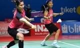 Pasangan ganda putri Indonesia Greysia Polii (kiri) dan Apriyani Rahayu.