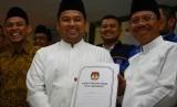 Walikota Tangerang terpilih Arief R Wismansyah (kedua kiri).