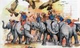 Tahun Gajah dan Penaklukan Abrahah yang Gagal. Pasukan gajah Raja Abrahah (ilustrasi)