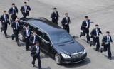 Pasukan pengawalan Kim Jong-un.