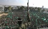 Israel melakukan serangan pabrik beton Hamas bahan utama infrastruktur bawah tanah. Pejuang Hamas, ilustrasi