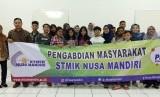 Pelaksanaan pengabdian masyarakat oleh dosen-dosen STMIK Nusa Mandiri yang berlangsung di berlangsung di kampus STMIK Nusa Mandiri, Jl Damai No. 8, Ragunan, Pasar Minggu, Jakarta Selatan. Sabtu (2/11).
