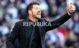 Pelatih Atletico Madrid Diego Simeone.