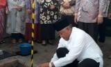 Peletakan batu pertama pembangunan Masjid KH Sudjak RS PKU Gamping.