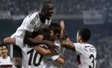 Pemain tim Besiktas melakukan selebrasi (ilustrasi). Liga Turki akan kembali bergulir pada 12 Juni.