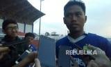 Pemain Persib Bandung, Tony Sucipto di SPOrT Jabar, Bandung, Senin (14/5).