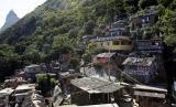 Pemandangan favela Santa Marta di Rio de Janeiro. Mahkamah Agung Brasil melarang serangan polisi di permukiman kumuh (favela). Ilustrasi.