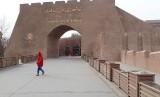 Pemandangan kota tua Uighur.