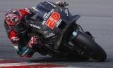 Pembalap tim Petronas Yamaha SRT, Fabio Quartararo pada tes hari kedua pramusim MotoGP, di Sirkuit Sepang, Malaysia, Sabtu (8/2).