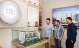 Pembukaan marketing gallery Apartemen Opus Park di kawasan Kelapa Gading, Jakarta Utara, Jumat (15/3).