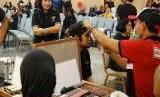 Penasehat Dharma Wanita Persatuan (DWP), Kemenkop dan UKM, Bintang Puspayoga dalam acara Silaturahmi Keluarga Besar Kementerian Koperasi dan UKM di Gedung Smesco Indonesia, Jakarta, Sabtu (11/8).