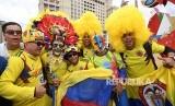 Penggemar sepakbola Kolombia (Ilustrasi)