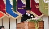Pengukuhan Guru Besar Taksonomi Tumbuhan UGM, Prof Purnomo, di Balai  Senat UGM, Selasa (19/3).