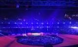 Penyerahan bendera Asian Games 2018 dari Indonesia ke perwakilan Hanzhou Cina untuk penyelenggaraan Asian Games 2022, Ahad (2/9).