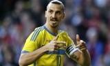 Penyerang timnas Swedia, Zlatan Ibrahimovic.
