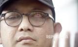 Penyidik senior KPK Novel Baswedan memberikan keterangan pers setelah diperiksa sebagai saksi di gedung KPK, Jakarta, Kamis (20/6/2019).