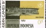 Perangko Asian Games 1962 Jakarta, Indonesia.