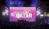 Perayaan di Qatar saat FIFA mengumumkan negara kaya minyak itu akan menjadi tuan rumah Piala Dunia 2022.