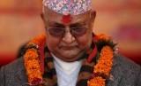 Perdana Menteri Nepal Khadga Prasad Sharma Oli.