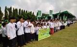 Peringatan Hari Santri Nasional di Lapangan Panahan, Yogyakarta.