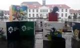 Pernak-pernik Asian Games di Kawasan Kota Tua, Jakarta