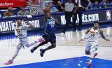Pertandingan Denver Nuggets vs Dallas Mavericks di Kompetisi NBA (ilustrasi). NBA membuka peluang melanjutkan musim di Disney World, Orlando, Florida, akhir Juli.