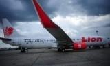 Pesawat Airbus milik maskapai penerbangan Lion Air.