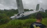 Pesawat Alfa Trans Dirgantara tergelincir di Bandara Kasonaweja.