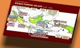 Peta Kesultanan Islam nusantara.