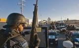 Polisi Federal Meksiko antinarkoba siap berpatroli di jalan-jalan (Ilustrasi)