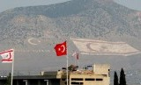 Pos penjagaan Turki di perbatasan Siprus Utara.