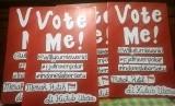 Poster kampanye seruan vote untuk Willy Kurniawan