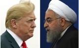 Presiden Amerika Serikat Donald Trump dan Presiden Iran Hassan Rouhani.