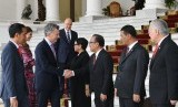 Presiden Argentina disambut Presiden Jokowi dan jajaran menteri kabinet