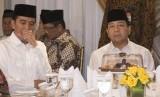 Presiden Joko Widodo (kiri) dan Ketua DPR Setya Novanto.