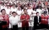 Presiden Joko Widodo saat meresmikan SUGBK